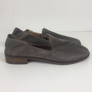 Lucky Brand Grey Leather Cahill Nubuck Loafers